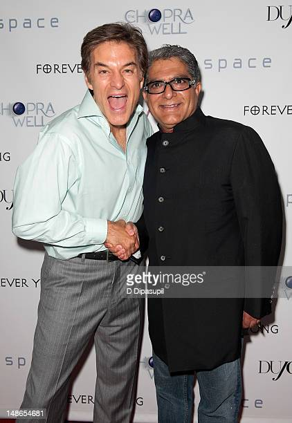 Dr Mehmet Oz and Deepak Chopra attend The Chopra Well Launch Event at Espace on July 18 2012 in New York City