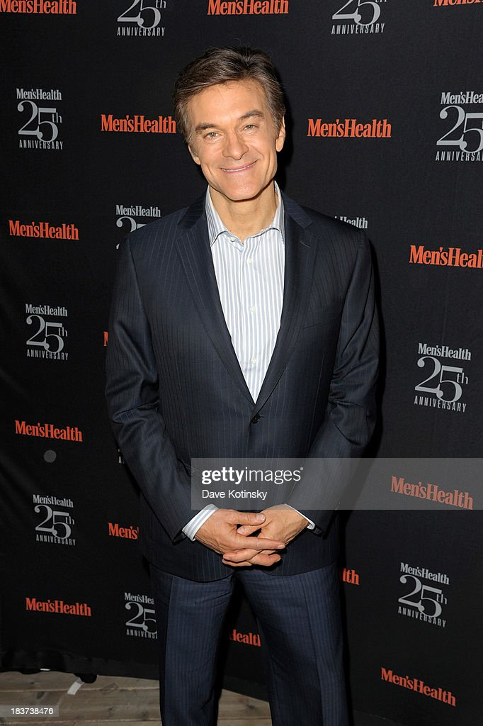 Dr. Mehmet Oz attends the Men's Health 25th anniversary celebration at Isola, Mondrian Soho Hotel on October 9, 2013 in New York City.