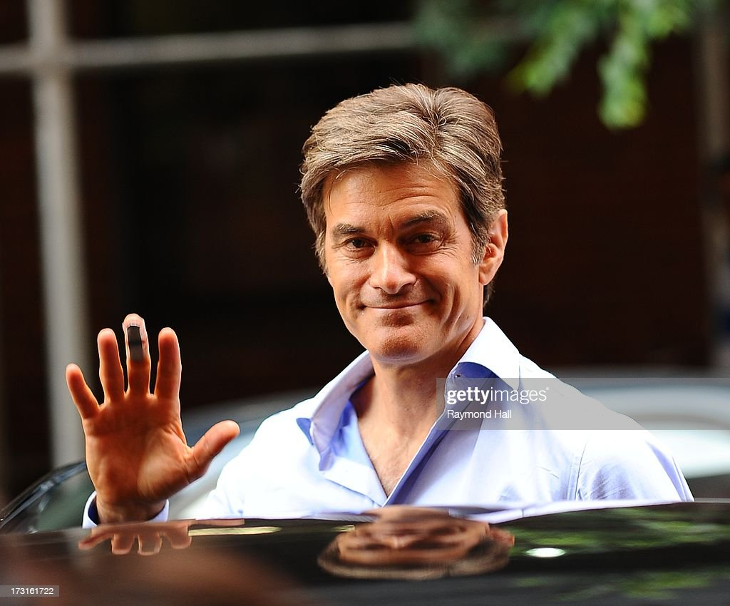 Dr. Mehmet Oz is seen in the Meat Packing District on July 8, 2013 in New York City.