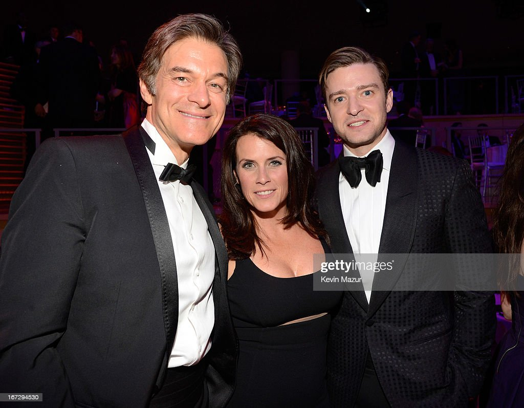 Dr Mehmet Oz, Lisa Oz and Justin Timberlake attend TIME 100 Gala, TIME'S 100 Most Influential People In The World at Jazz at Lincoln Center on April 23, 2013 in New York City.