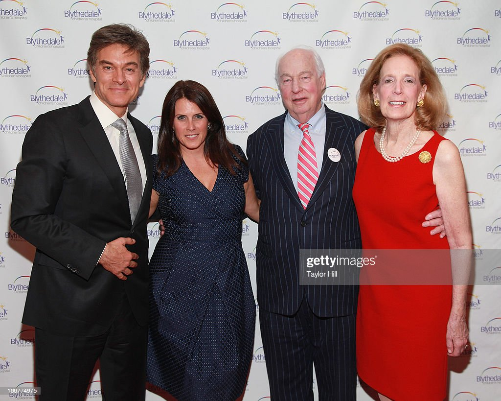 Dr. Mehmet Oz, producer Lisa Oz, and philanthropists Jon Burnham and Mimi Burnham attend the Blythedale Children's Hospital's 6th annual Spring Fundraiser at The Lighthouse at Chelsea Piers on April 16, 2013 in New York City.