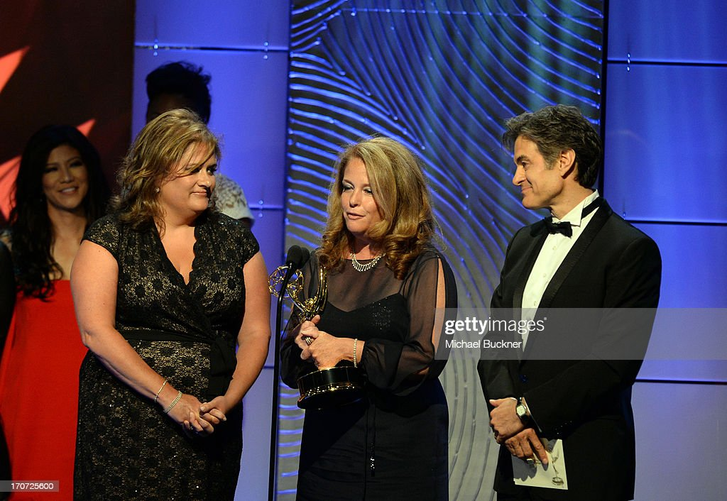 Dr. Mehmet Oz (R) with producers of 'The Dr. Oz Show' accept the Best Informative Talk Show award onstage during the 40th Annual Daytime Emmy Awards at the Beverly Hilton Hotel on June 16, 2013 in Beverly Hills, California. 23774_001_1525.JPG