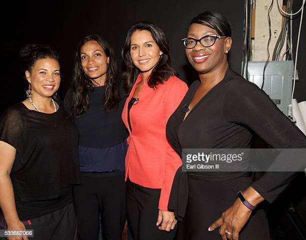Dr Melina Abdullah Actress Rosario Dawson Congresswoman Tulsi Gabbard and Senator Nina Turner serve as panelist on Live Stream Of 'My Peoples'...