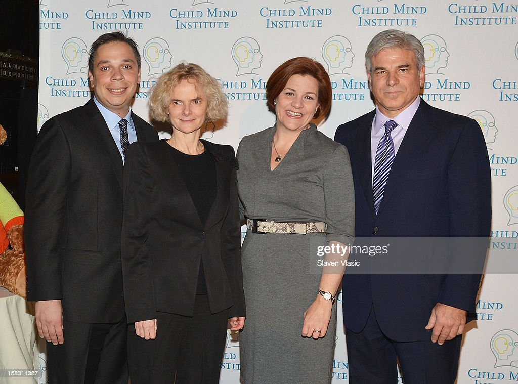 Dr. Michael Milham, honoree Dr. Nora Volkow, Christine Quinn and honoree Michael D. Fascitelli attend Child Mind Institute's 3rd Annual Child Advocacy Award Dinner at Cipriani 42nd Street on December 12, 2012 in New York City.
