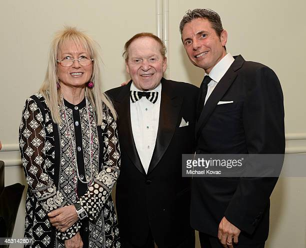 Dr Miriam Adelson Sheldon Adelson and honoree Dr Anton Bilchik attend the John Wayne Cancer Institute Auxiliary's 29th Annual Odyssey Ball at Regent...