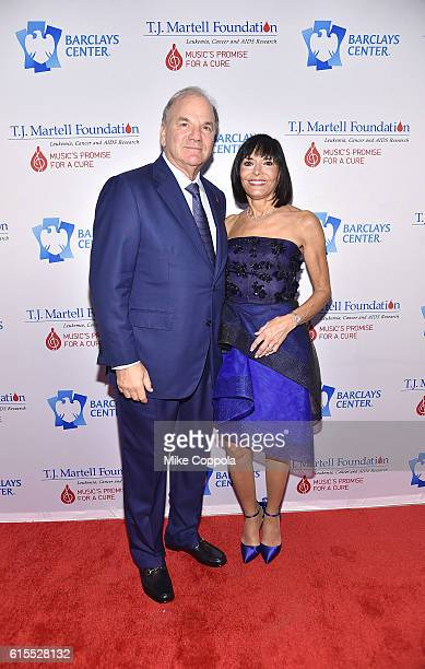Dr Mitchell Benson and Dr Ronda Bixon attend TJ Martell Foundation's 41st Annual Honors Gala at Gustavino's on October 18 2016 in New York City