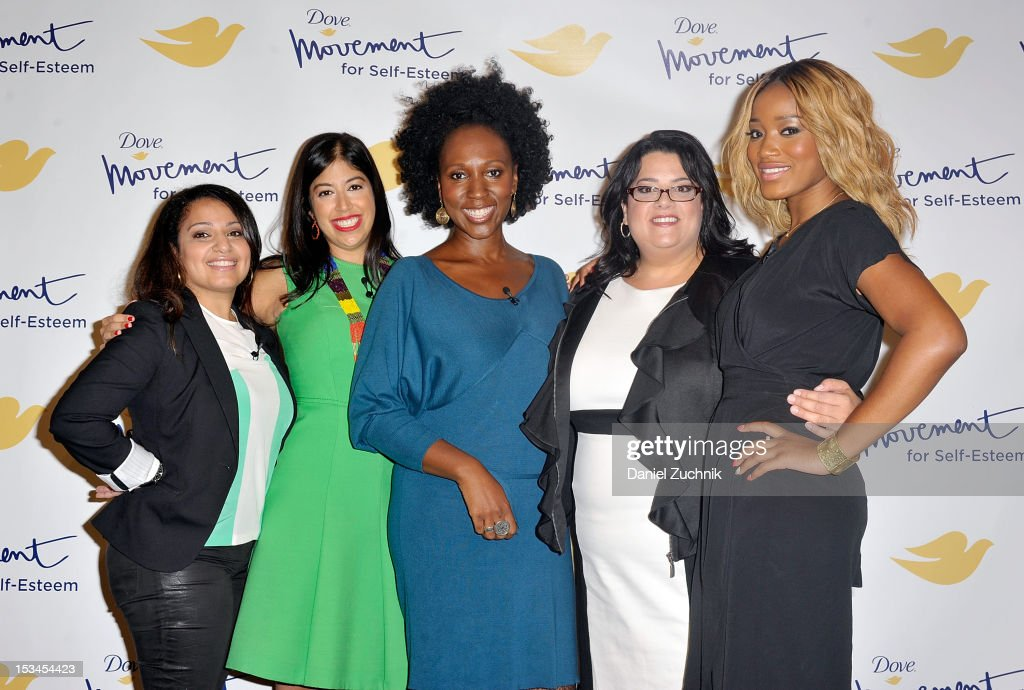 Dr. Mona Gohara, Alexis Tirado, Toni Blackman, Jess Weiner and Keke Palmer attend the 3rd Annual Dove Self-Esteem Weekend in Times Square on October 5, 2012 in New York City.