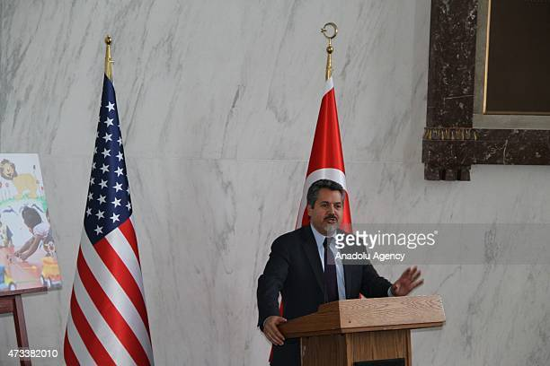 Dr Najib Ghadbian Special Representative to the United States for the National Coalition of Syrian Revolution and Opposition Forces gives speech...