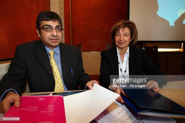 Dr Naresh Chada senior medical officer at the Department of Health with Marlene Kinghan from the Children's Commissioners office at a conference at...
