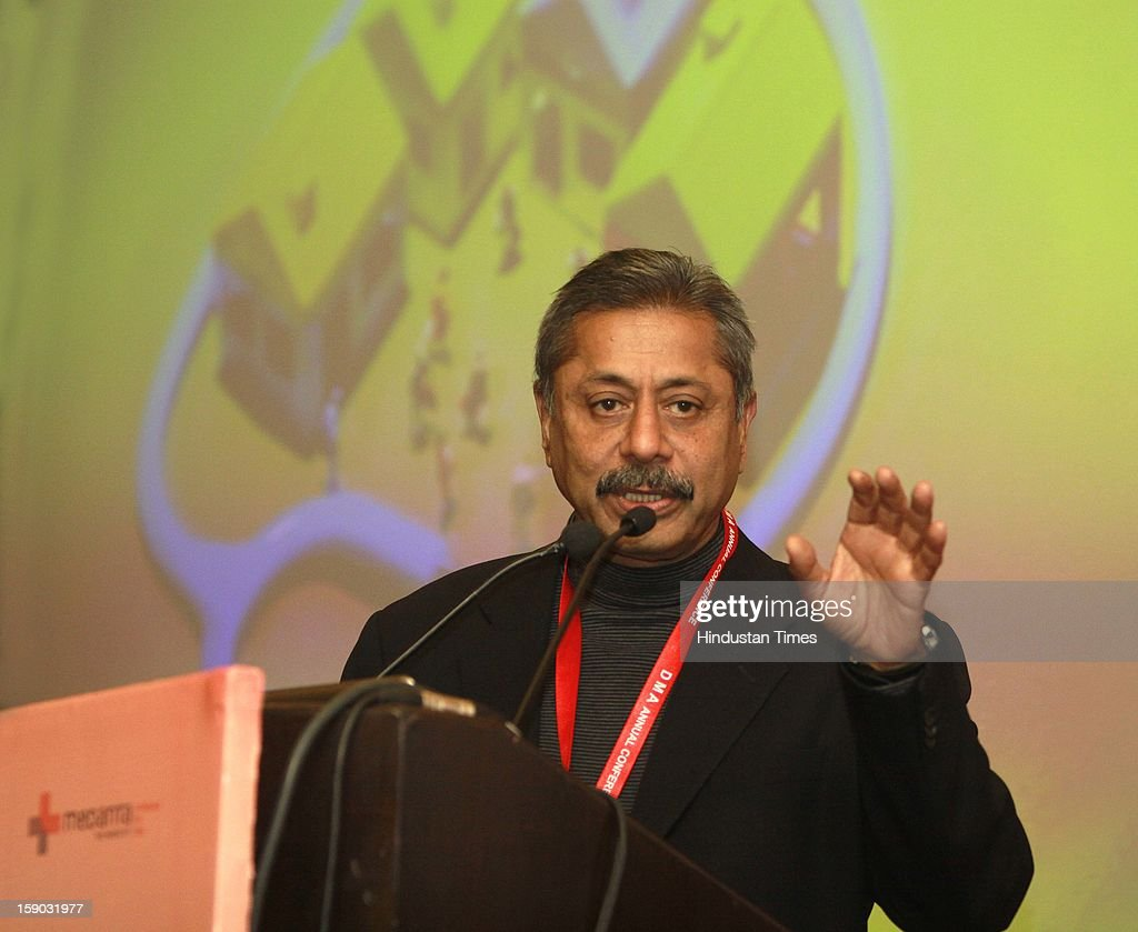 Dr. Naresh Trehan Chairman and Managing Director, Medanta address the 55th annual Delhi State Medical conference organized by Delhi Medical Association 'Centenary Year Celebrations 2013, 14' at hotel Le-Meridien on January 6, 2013 in New Delhi, India.