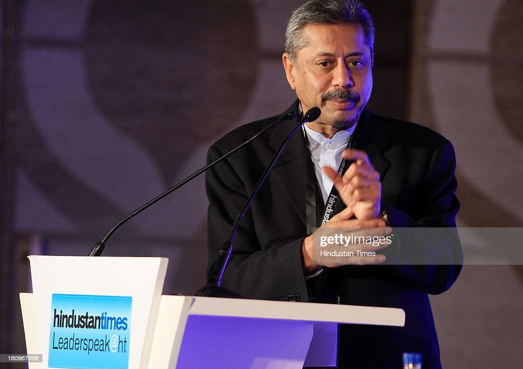 Dr. Naresh Trehan speaking during panel discussion on uncovering the Haryana growth story Gains, Gaps and Goals at Leaderspeak@ht, on February 8, 2013 in Gurgaon, India.