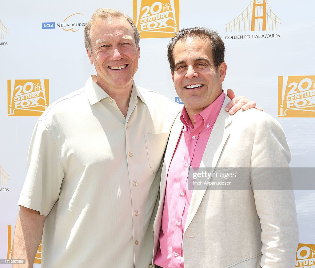 Dr. Neil Martin (L) and 20th Century Fox Feature Post-Production President Ted Gagliano attend the 2nd annual Golden Portal Awards benefiting The UCLA Brain Tumor Program on June 23, 2013 in Beverly Hills, California.
