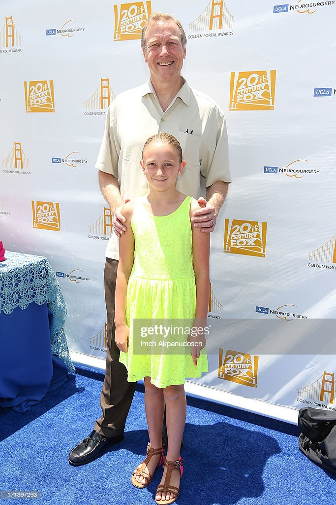 Dr. Neil Martin and his daugther, Natalie, attend the 2nd annual Golden Portal Awards benefiting The UCLA Brain Tumor Program on June 23, 2013 in Beverly Hills, California.