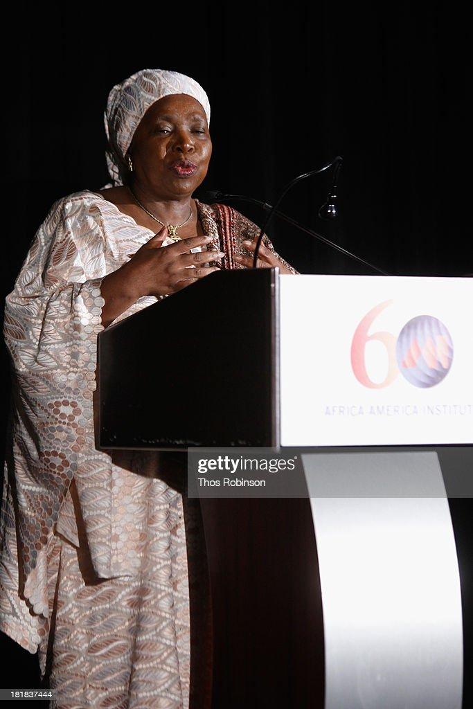 Dr. Nkosazana Dlamini Zuma speaks during the Africa-America Institute 60th Anniversary Awards Gala at New York Hilton on September 25, 2013 in New York City.