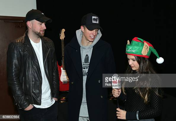 Dr No and Robert Gainley of the band Lost Kings are being interviewed during Z100 CocaCola All Access Lounge at Z100's Jingle Ball 2016 Presented by...
