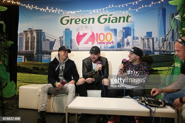 Dr No and Robert Gainley of the band Lost Kings speak with Mo' Bounce during Z100 CocaCola All Access Lounge at Z100's Jingle Ball 2016 Presented by...