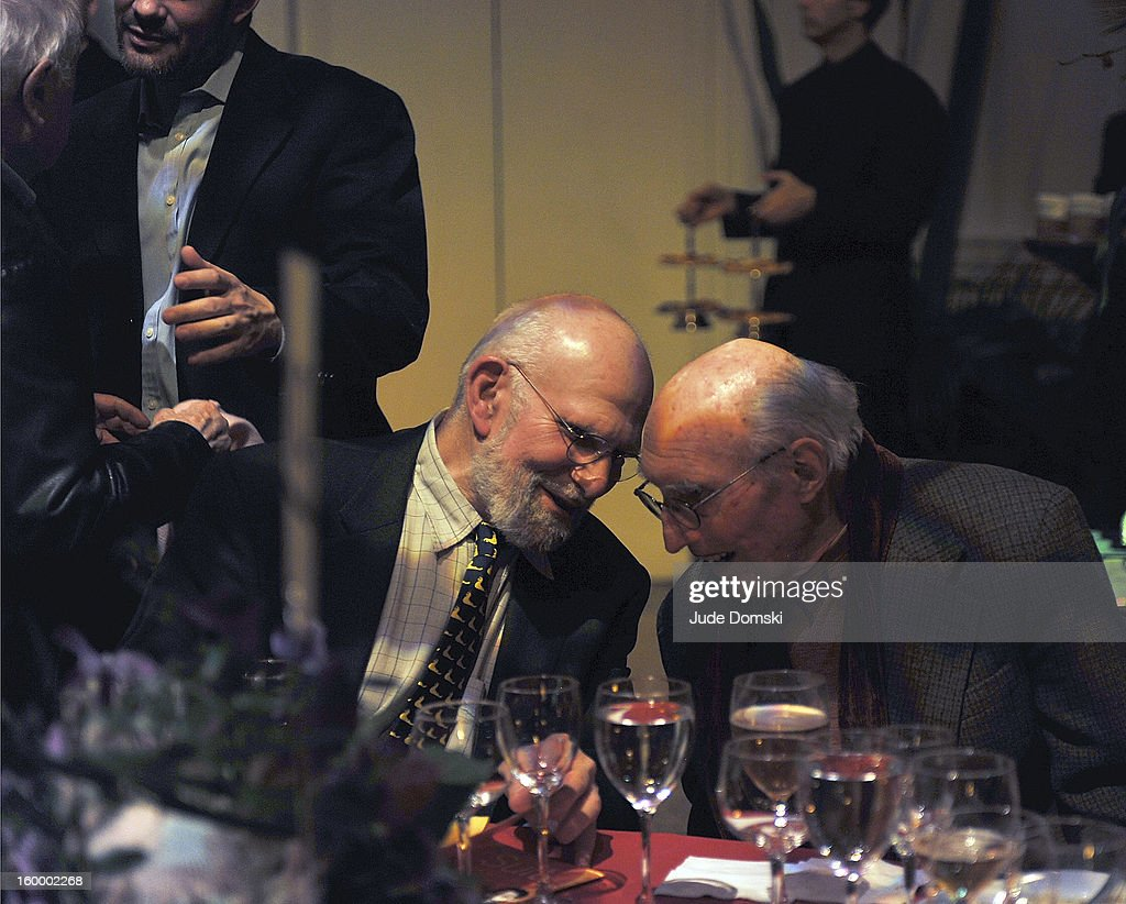 Dr. <a gi-track='captionPersonalityLinkClicked' href=/galleries/search?phrase=Oliver+Sacks&family=editorial&specificpeople=597933 ng-click='$event.stopPropagation()'>Oliver Sacks</a> and Harvey Lichtenstein attend the 2013 BAM Theater Gala at Brooklyn Academy of Music on January 24, 2013 in the Brooklyn borough of New York City.