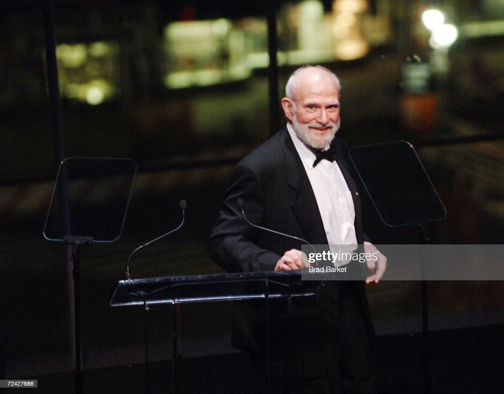 Dr. <a gi-track='captionPersonalityLinkClicked' href=/galleries/search?phrase=Oliver+Sacks&family=editorial&specificpeople=597933 ng-click='$event.stopPropagation()'>Oliver Sacks</a> speaks at the Music Has Power Awards Benefit in the Allen Room at the Frederick P. Rose Hall, Home of Jazz at Lincoln Center on November 6, 2006 in New York City.