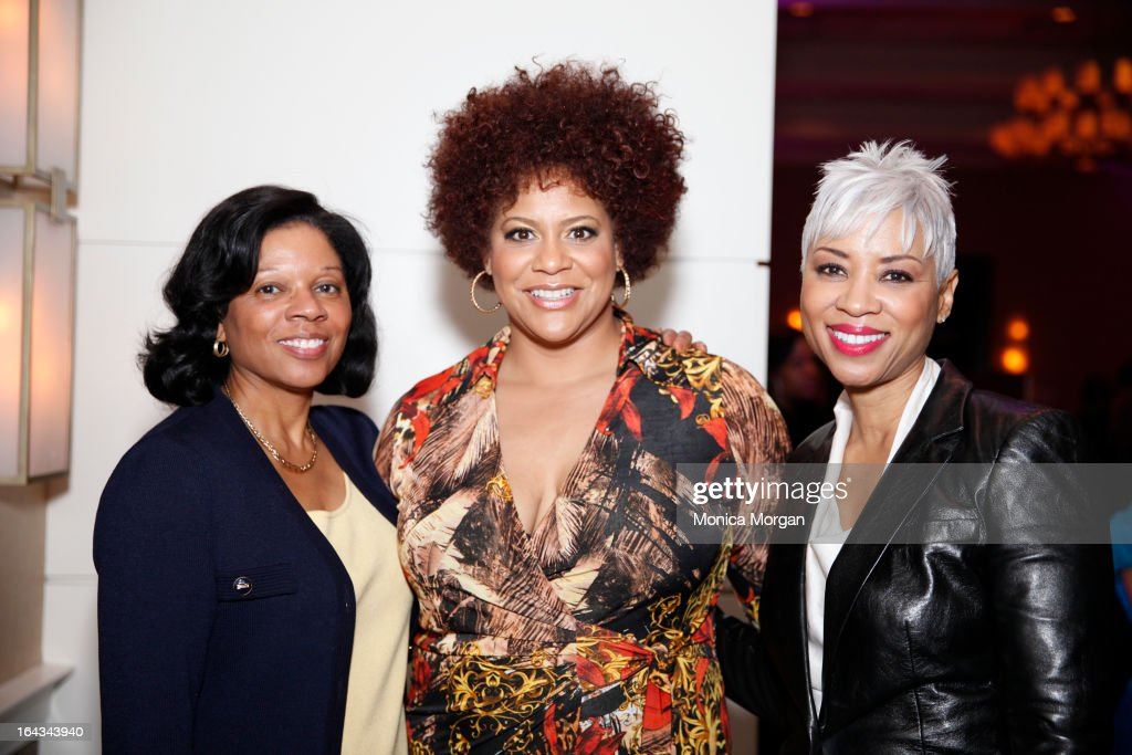 Dr. Patricia Maryland, <a gi-track='captionPersonalityLinkClicked' href=/galleries/search?phrase=Kim+Coles&family=editorial&specificpeople=984385 ng-click='$event.stopPropagation()'>Kim Coles</a> and and Janice Cosby Bridges attend 2013 Women Of Excellence at Westin Book Cadillac hotel on March 22, 2013 in Detroit, Michigan.