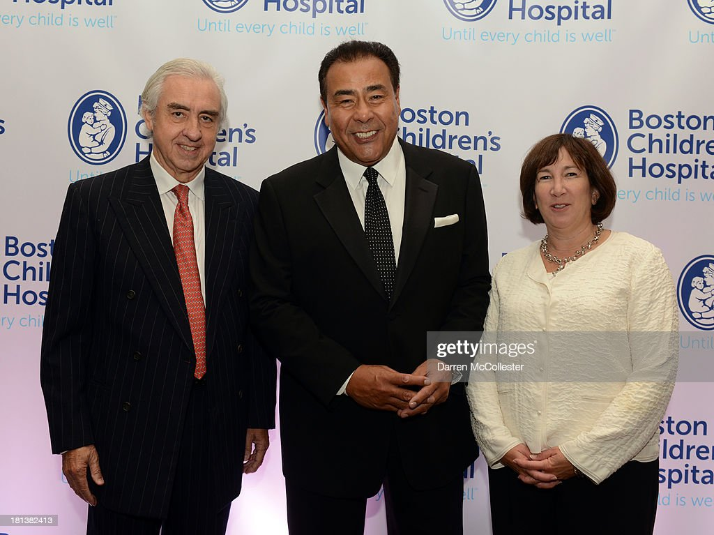 Dr. Patricio Vives, John Quinones and President Boston Children's Hosital Trust Lynn Susman attend the 4th annual Milagros para Ninos Gala benefitting Boston Children's Hospital at The Westin Boston Waterfront on September 20, 2013 in Boston, Massachusetts.