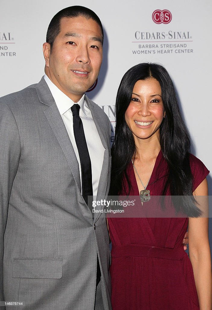 Dr Paul Song and wife TV host Lisa Ling attend an intimate dinner benefiting CedarsSinai Women's Heart Center hosted by Barbra Streisand at...