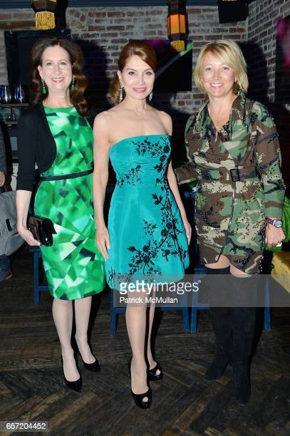 Dr Penny Grant Jean Shafiroff and Janna Bullock attend Jean Shafiroff hosts Surprise Party for Patrick McMullan at 49 West 20th Street on March 17...