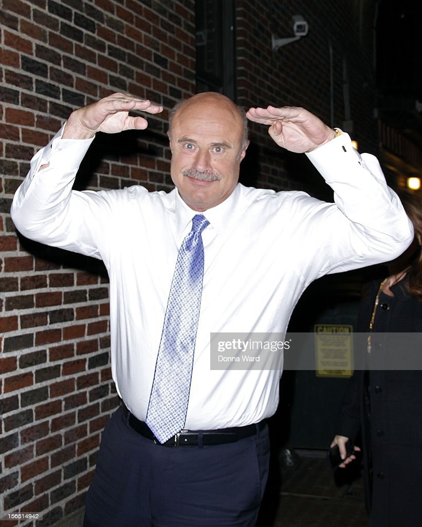 Dr. Phil arrives for 'The Late Show with David Letterman' at Ed Sullivan Theater on November 15, 2012 in New York City.