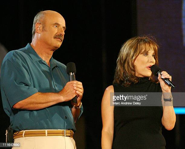 Dr Phil McGraw and wife Robin McGraw during Boston POPS Fireworks Spectular Featuring Steven Tyler and Joe Perry of Aerosmith July 4 2006 at Hatch...