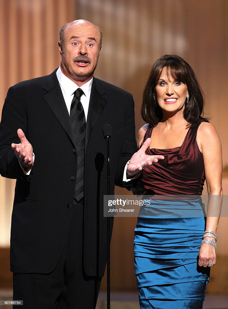 Dr. Phil McGraw and wife Robin speak on stage during the 36th Annual Daytime Emmy Awards at The Orpheum Theatre on August 30, 2009 in Los Angeles, California.
