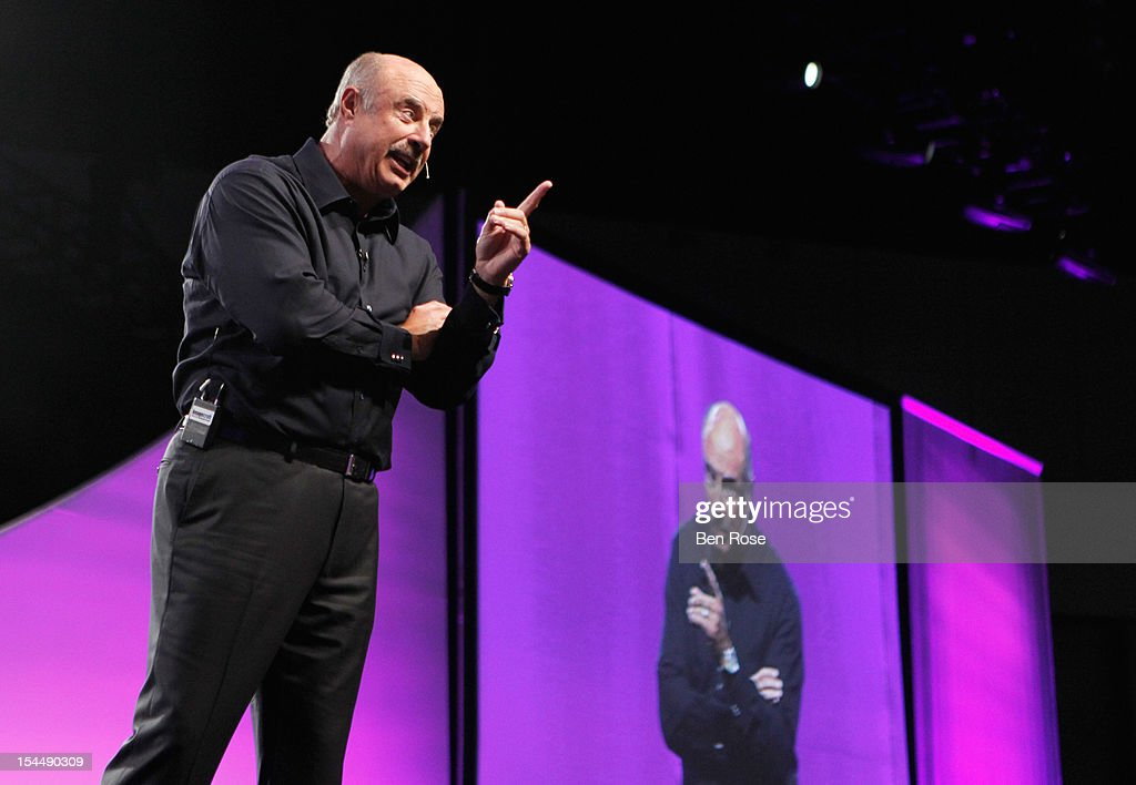 Dr. <a gi-track='captionPersonalityLinkClicked' href=/galleries/search?phrase=Phil+McGraw&family=editorial&specificpeople=234933 ng-click='$event.stopPropagation()'>Phil McGraw</a> speaks onstage during O You! presented by O, The Oprah Magazine, held at Los Angeles Convention Center on October 20, 2012 in Los Angeles, California.