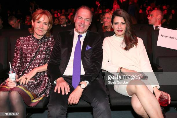 Dr Rainer Hillebrand Vice Chairman of the Executive Board Otto Group and Linda Zervakis during the ABOUT YOU AWARDS at the 'Mehr Theater' in Hamburg...