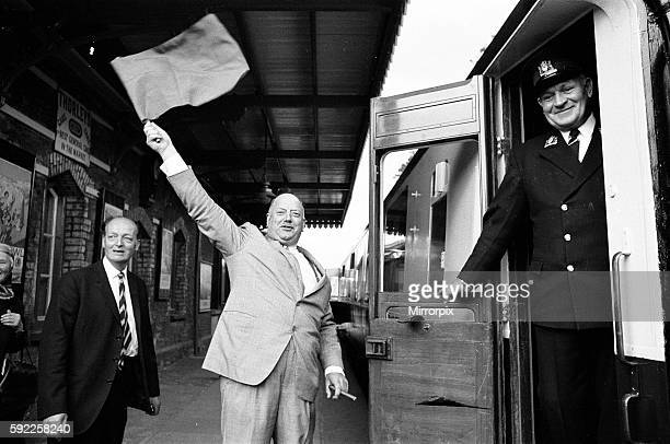 Dr Richard Beeching Chairman of British Railways reopens the Dart Valley Railway South Devon Railway 21st May 1969 He became a household name in...