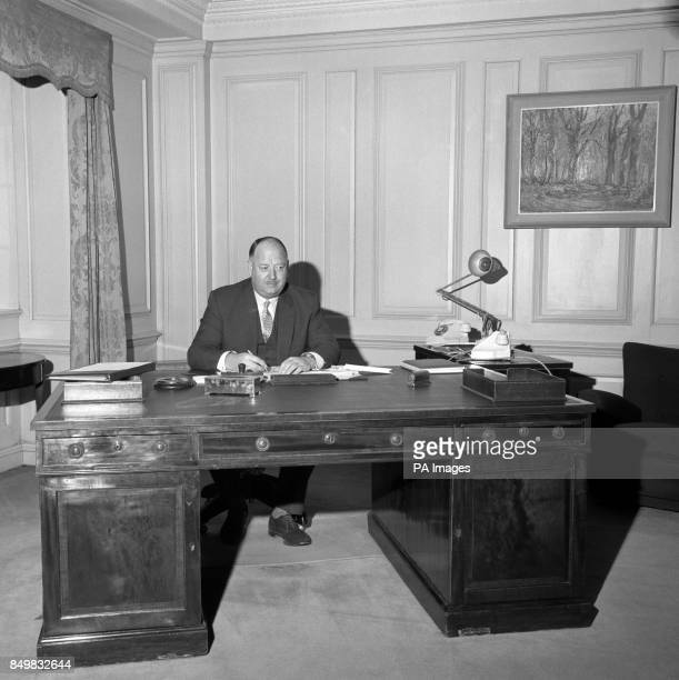 Dr Richard Beeching who yesterday finished his fouryear job as head of British Railways pictured this morning as he returned to his job with Imperial...