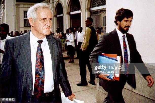 Dr Richard Gladwell McGown and his lawyer Mark Stonier leave the High court in Harare 10 January after he was found guilty on two counts of culpable...