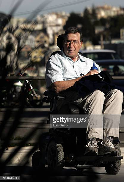 Dr Richard Olnety wheels himself around the campus of UC San Francisco where he has spent the last two decades researching Amyotrophic Lateral...