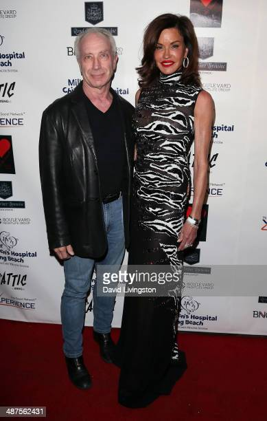 Dr Robert Gerner and TV personality Janice Dickinson attend '30 Years of Music Art Fashion' benefiting Miller Children's Hospital at The Attic on...