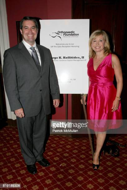 Dr Robert Grant and Sharon Bush attend ORTHOPAEDIC FOUNDATION for ACTIVE LIFESTYLES host a pregala cocktail honoring GEORGE K KOLLITIDES II at The...