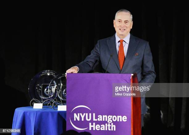 Dr Robert Grossman speaks onstage during the NYU Langone Health's 2017 Musculoskeletal Ball on November 14 2017 at the American Museum of Natural...