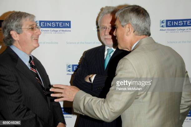 Dr Robert Marion Wolf Blitzer and Dr Allen Spiegel attend CYNTHIA NIXON WOLF BLITZER and Dr ROBERT MARION Honored at the ALBERT EINSTEIN College of...