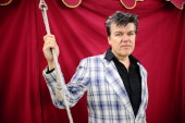 Dr Robert of The Blow Monkeys poses for a portrait on Day 3 of Rewind 80s Festival 2013 at Scone Palace on July 28 2013 in Perth Scotland