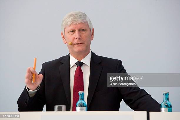 Dr Rolf Martin Schmitz Vice Chief Executive Officer of the RWE AG during the Annual Press Conference in Essen on March 04 2014 in Essen Germany