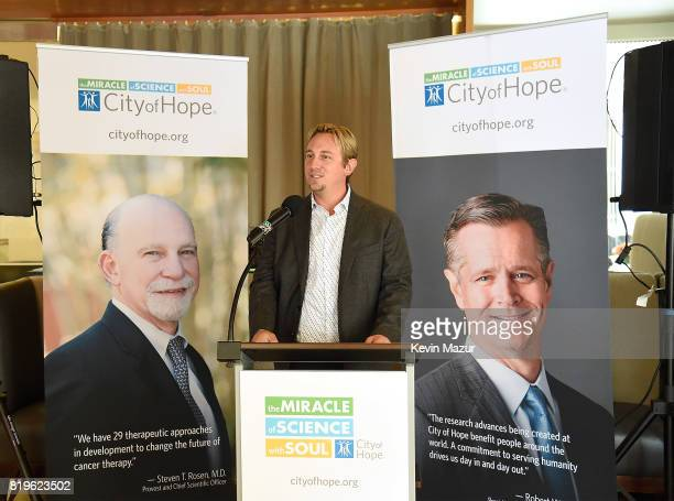 Dr Russell Rockne speaks during City of Hope's The New York Spirit Of Life Campaign kick off event honoring Coran Capshaw at Fred's at Barneys on...