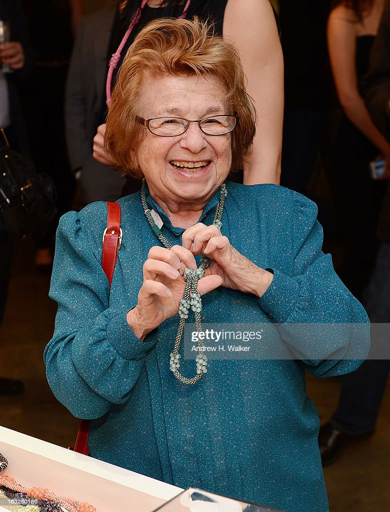 Dr. Ruth attends the DKNY & Same Sky Ethical Shopping Event to celebrate International Women's Day at DKNY Store on March 6, 2013 in New York City.