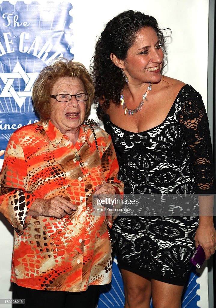 Dr. Ruth K. Westheimer (L) and Gia Machlin attend the 79th annual Blue Card Benefit gala at American Museum of Natural History on October 21, 2013 in New York City.