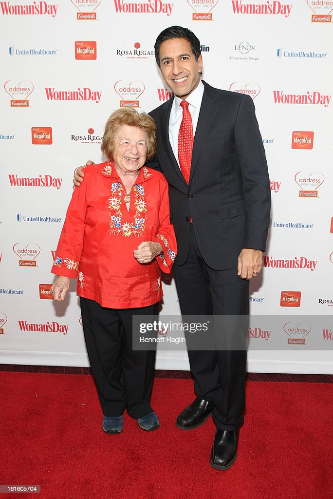 Dr. <a gi-track='captionPersonalityLinkClicked' href=/galleries/search?phrase=Ruth+Westheimer&family=editorial&specificpeople=216372 ng-click='$event.stopPropagation()'>Ruth Westheimer</a> and <a gi-track='captionPersonalityLinkClicked' href=/galleries/search?phrase=Dr.+Sanjay+Gupta&family=editorial&specificpeople=3093323 ng-click='$event.stopPropagation()'>Dr. Sanjay Gupta</a> attend the 10th Annual Red Dress Awards at Jazz at Lincoln Center on February 12, 2013 in New York City.