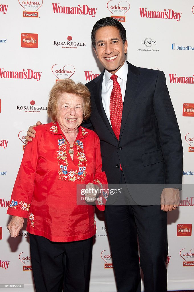 Dr. <a gi-track='captionPersonalityLinkClicked' href=/galleries/search?phrase=Ruth+Westheimer&family=editorial&specificpeople=216372 ng-click='$event.stopPropagation()'>Ruth Westheimer</a> (L) and <a gi-track='captionPersonalityLinkClicked' href=/galleries/search?phrase=Dr.+Sanjay+Gupta&family=editorial&specificpeople=3093323 ng-click='$event.stopPropagation()'>Dr. Sanjay Gupta</a> attend the 10th Annual Red Dress Awards at Jazz at Lincoln Center on February 12, 2013 in New York City.