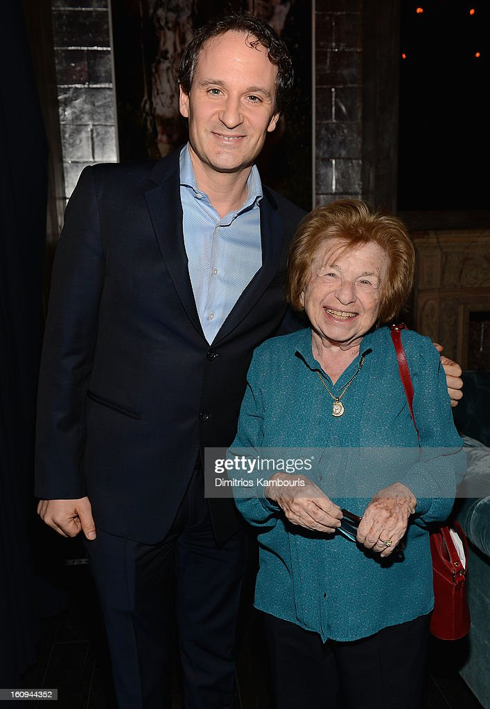 Dr. <a gi-track='captionPersonalityLinkClicked' href=/galleries/search?phrase=Ruth+Westheimer&family=editorial&specificpeople=216372 ng-click='$event.stopPropagation()'>Ruth Westheimer</a> (R) and guest attend the La Perla After Party Hosted By DeLeon Tequila at The Electric Room on February 7, 2013 in New York City.