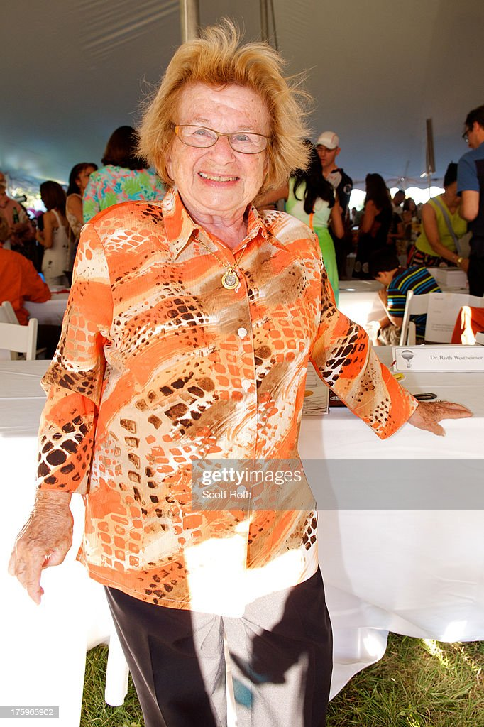 Dr. <a gi-track='captionPersonalityLinkClicked' href=/galleries/search?phrase=Ruth+Westheimer&family=editorial&specificpeople=216372 ng-click='$event.stopPropagation()'>Ruth Westheimer</a> attends 9th Annual Authors Night at The East Hampton Library on August 10, 2013 in East Hampton, New York.