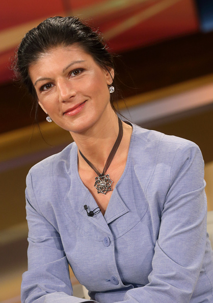 Dr Sahra Wagenknecht in der ARDTalkshow 'Anne_Will' am in BerlinThema...