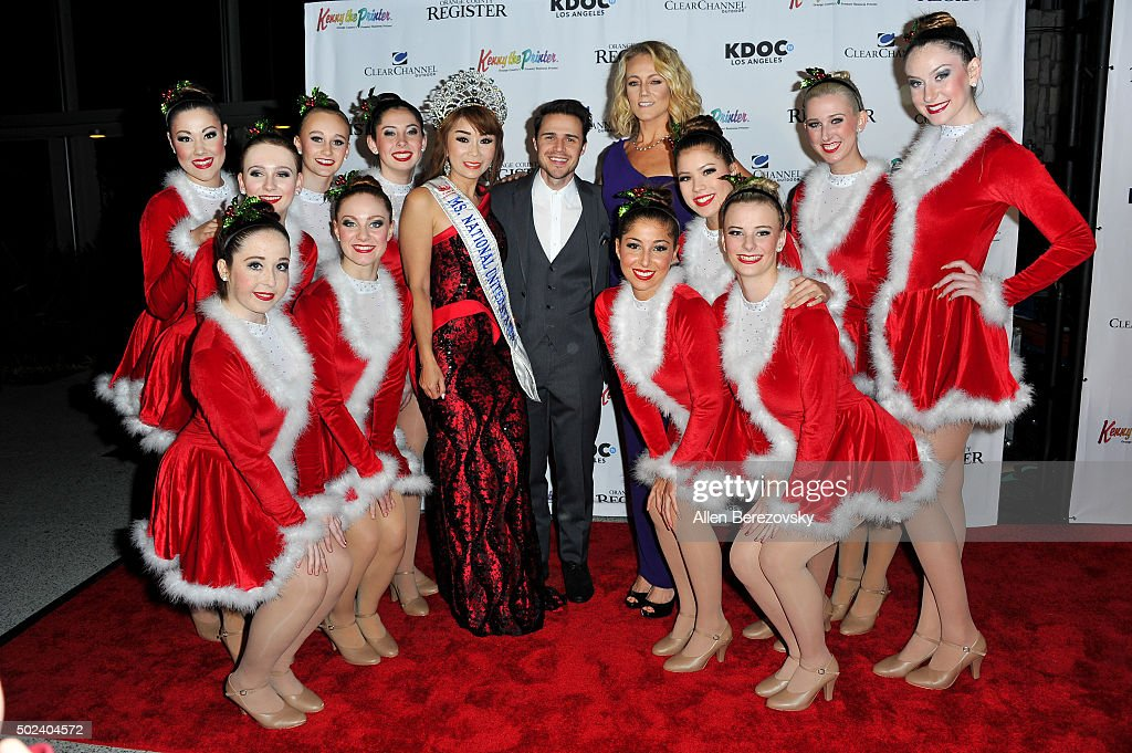 Dr. Sam Nguyen (L), Ms. National United States Woman of Achievement 2016, singer Kris Allen and Jennifer Kessy attend the OC Christmas Extravaganza Concert and Ball at Christ Cathedral on December 23, 2015 in Garden Grove, California.